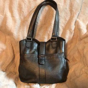 TIGNANELLO Metallic Gray Soft Leather Purse